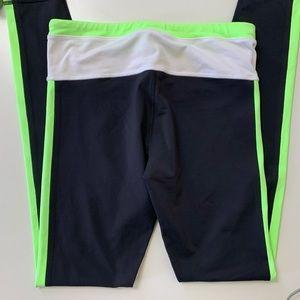 lululemon athletica Pants - Lululemon Black Neon Green Full Length Legging